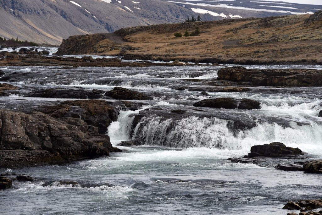 the first waterfall we saw in Iceland