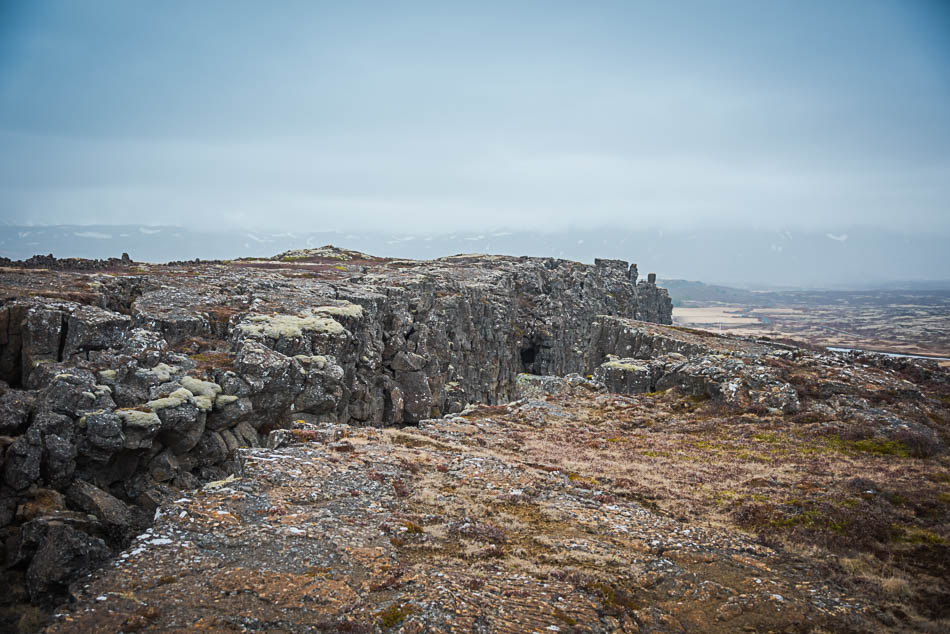 Looking along the break between the tectonic plates