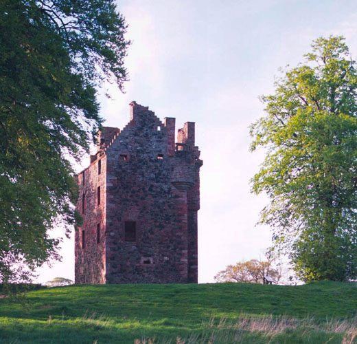 The well-preserved Greenknowe tower