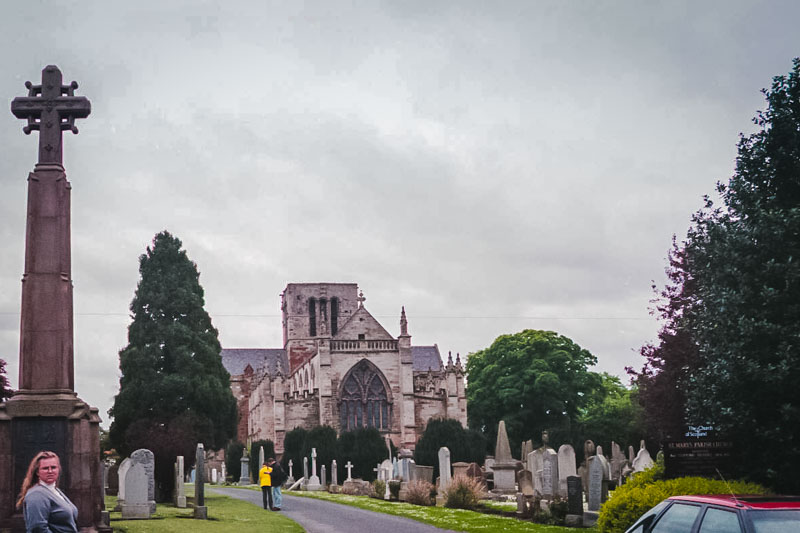 View from the churchyard of St Marykirk