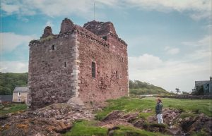 The well-maintained (and locked) towerhouse of Portencross