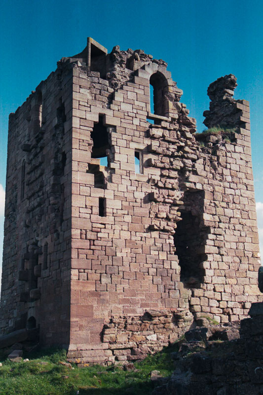 the crumbling main tower