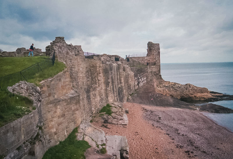 the seaward wall of the castle