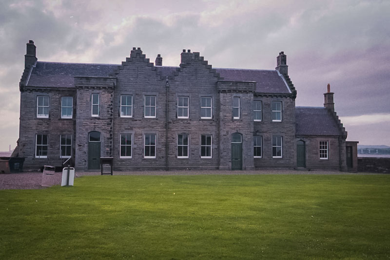 officers quarters on the grounds of the castle