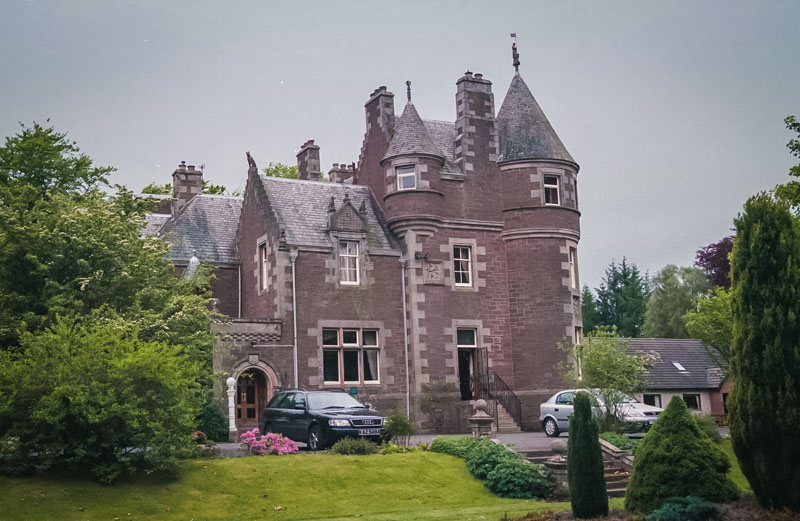Collearn House is a comfortable country house, made to look like a castle