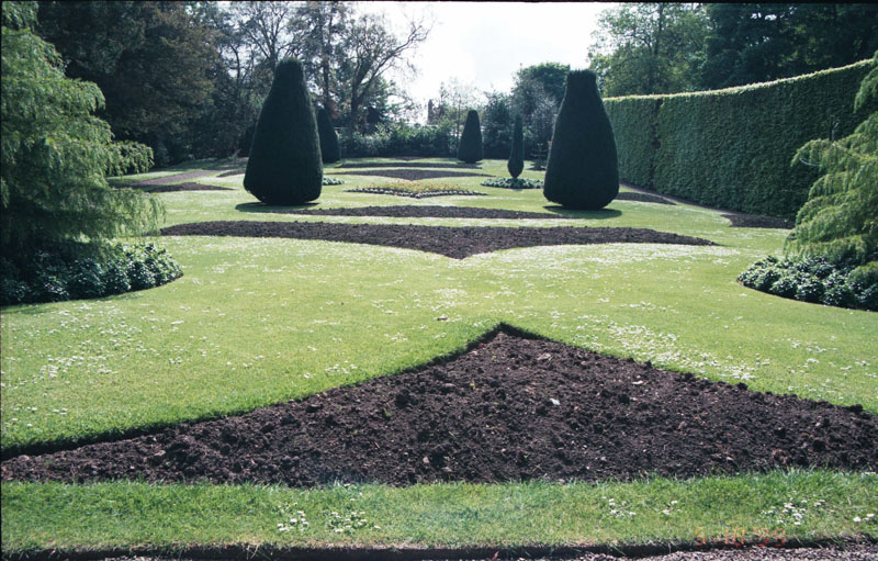 the not-quite-sprouted formal gardens