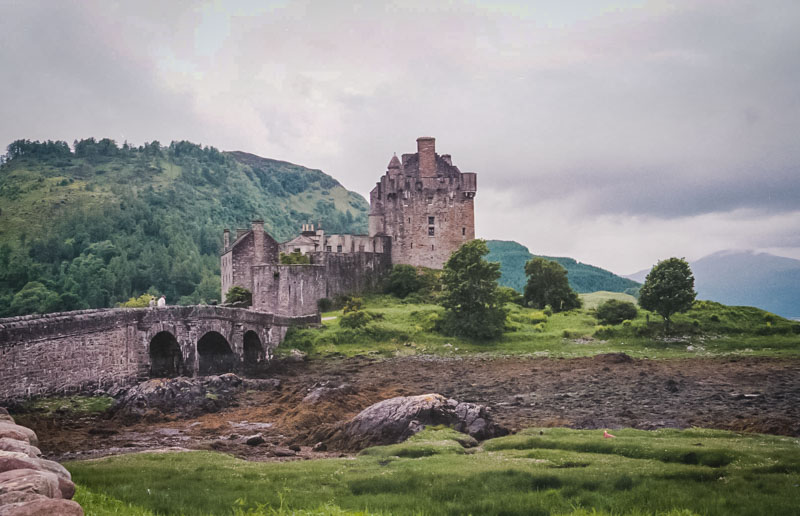 the castle from the far shore of the loch
