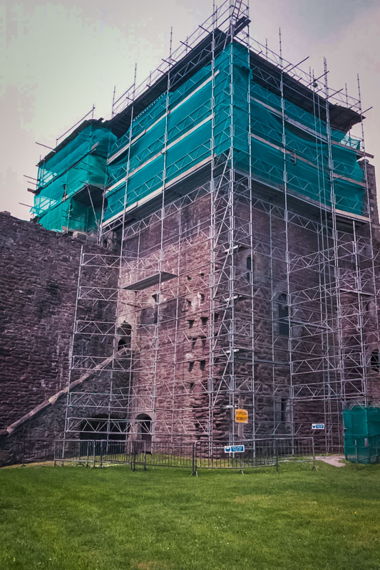 repairing the parapet and hall, the first time in 600 years