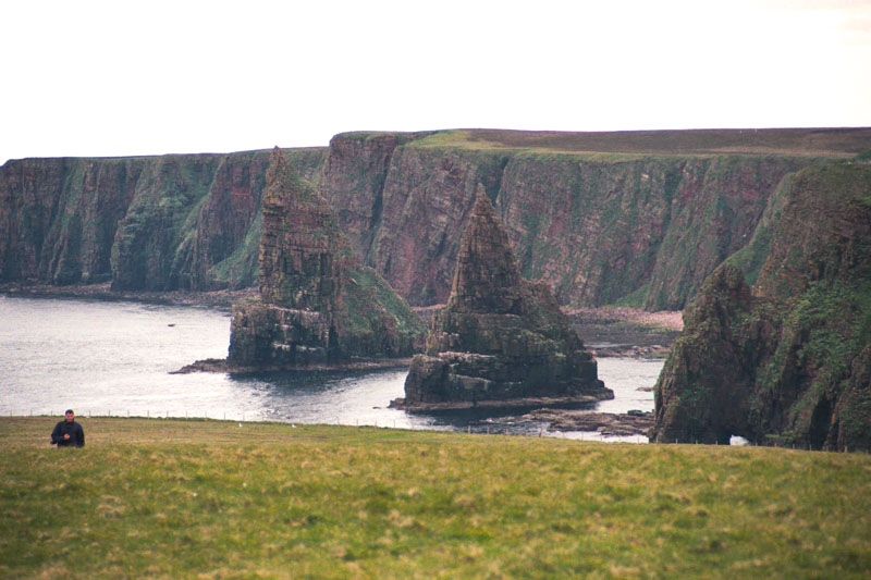 strange rock formations near John O'Groats