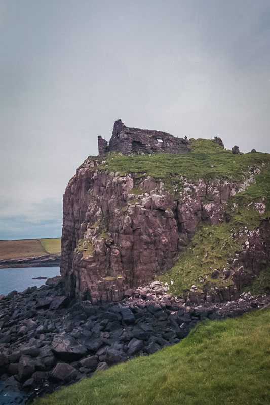 Duntulm is well-protected from the seaward side by tall cliffs