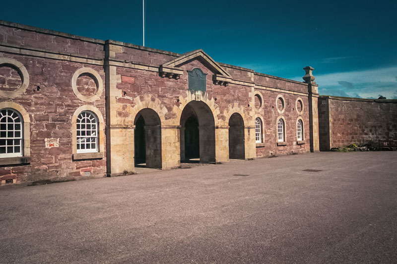 the gates of Fort George, from the large parade ground inside