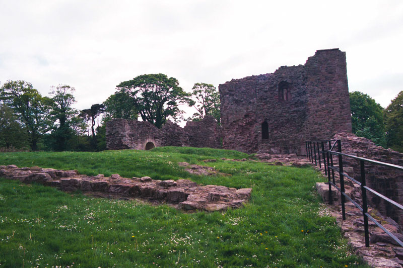 only foundations of the outbuildings remain