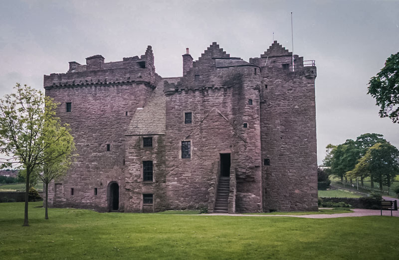 the linked towers of Huntingtower castle