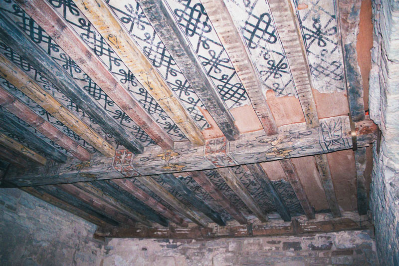 one of the few examples of decorated ceilings in scotland