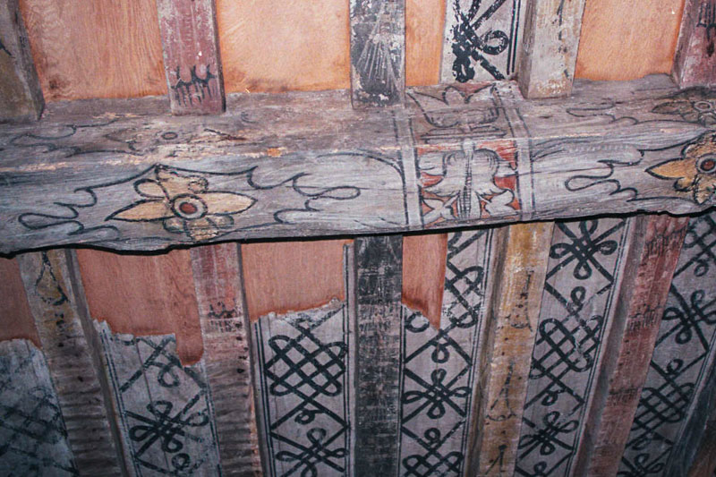 well-preserved examples of the painted ceilings in the castle