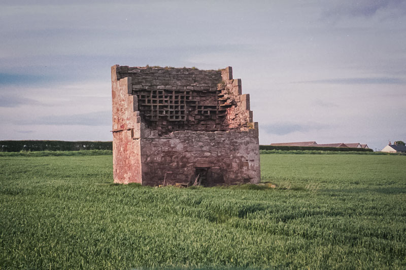 a rectangular doocot near the castle