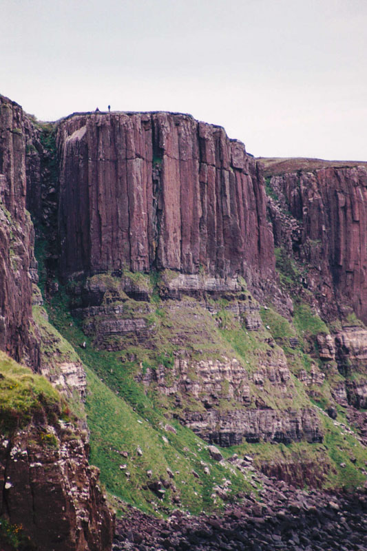 The odd vertical columns of Kilt Rock