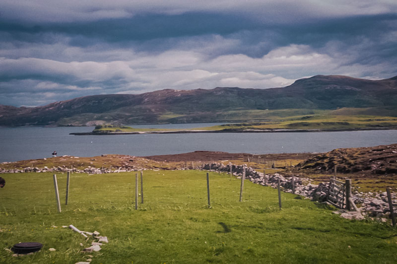looking across Loch Eriboll from the Port-na-con tea shop