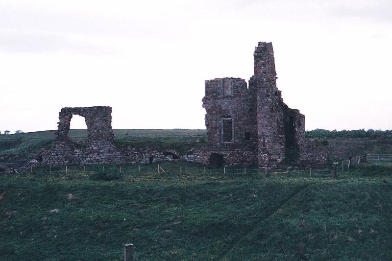 the ruined facadeon the seashore near St Morans