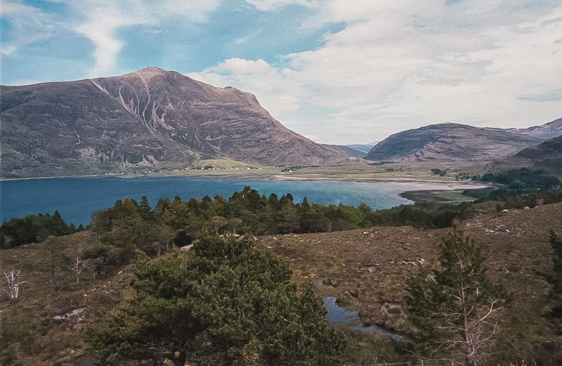 the very end of Loch Torridon, surrounded by mountains