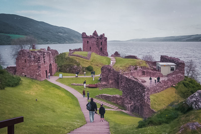 Looking over the castle and Loch Ness