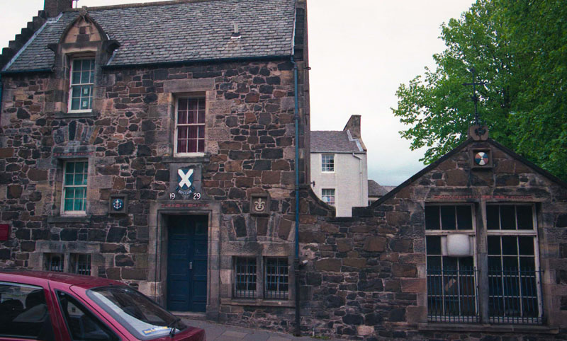 the small boy's club building in Stirling, across from the church