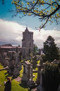 Stirling Cemetary, from Ladies' View