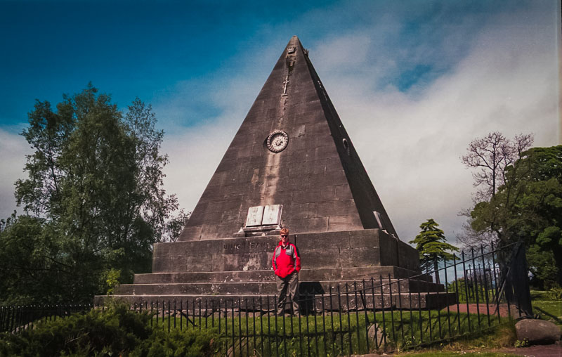 A pyramid in the cemetary dedicated to religious martyrs