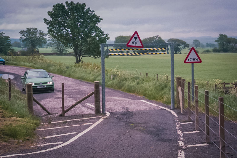 Restriced height parking entrance, to test for a bridge somewhere