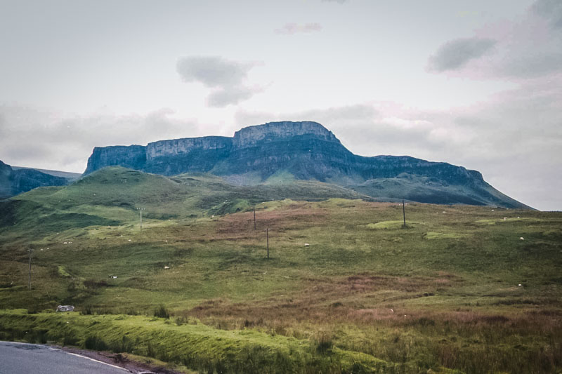 The first view of the quirang on the Isle of Skye