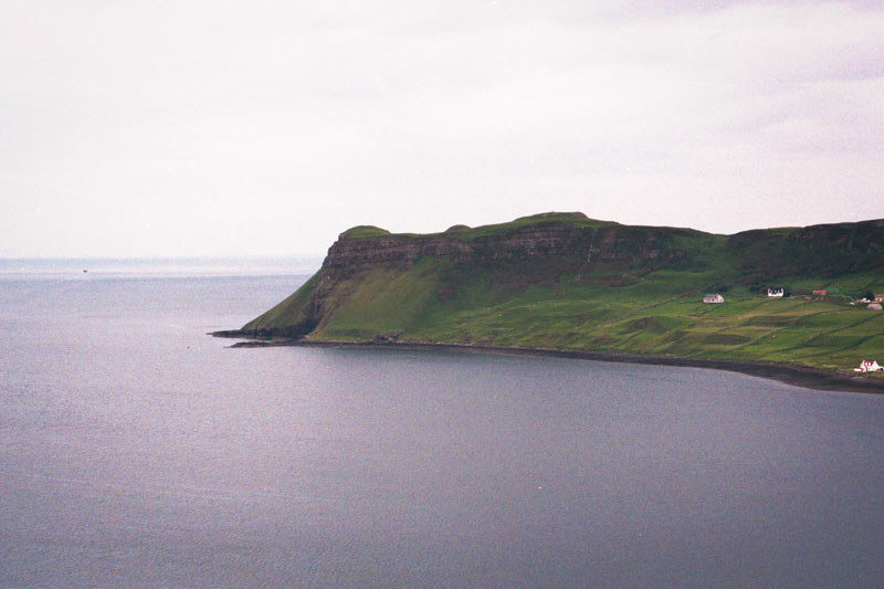 the unbelievably green coast on skye