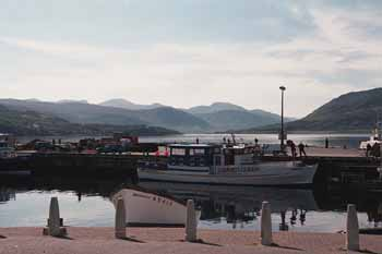 the harbor at ullapool in the morning